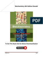 Test Bank For  Biochemistry 4th Edition  Donald