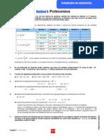 Actividades de ampliación de la unidad 5 correspondiente a los polinomios