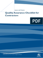 Quality Assurance Checklist for Contractors