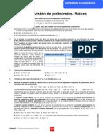 Ejercicios de ampliación de la unidad 6 correspondiente al tema de División de polinomios.