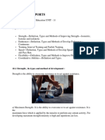 12. Training in Sports