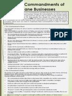 Five Commandments of Fastlane Business