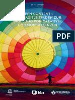 Open Content - Ein Praxisleitfaden Zur Nutzung Von Creative-Commons-Lizenzen