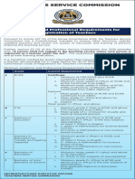 Academic and Professional Requirements for Registration of Teachers(1)