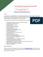 International Journal on Integrating Technology in Education (IJITE)