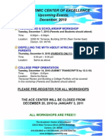 GCFI ACE Upcoming Events