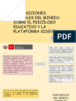 Disposiciones Actuales Del MINEDU Sobre El Psicologo Educativo y La Plataforma SISEVE-1 (1)
