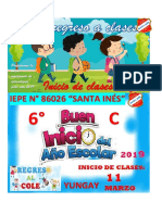 Afiche Inicio Del Año Escolar 2019