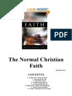 The Normal Christian Faith