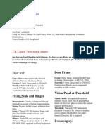 UI Listed Fire Door Information in BD