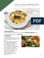 Chicken Dum Biryani Chicken Dum Biryani Recipe