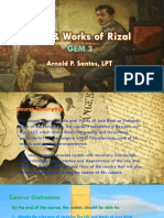 Life and Works of Rizal - Gem 3 - Course Orientation