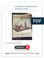 Test Bank For Business Communication 5th Canadian Edition  Locker