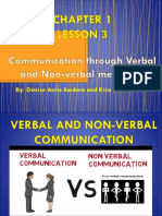 Lesson 3_Verbal and Non-verbal Communication