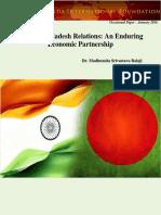 India Bangladesh Relations an Enduring Economic Partnership