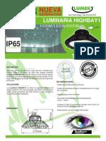 Ficha Tecnica Luminaria HighBay1 Lumek