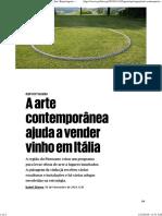arte contremporanea  e vinho