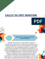 Calcut Du Fret Maritime