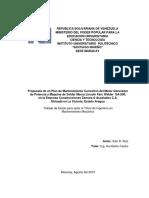 Plan de mantenimiento correctivo para una máquina soldadora
