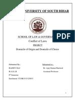 conflict of law. domicile of origin & domicile of choice..docx