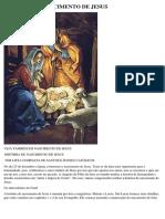 HISTÓRIA DE NASCIMENTO DE JESUS