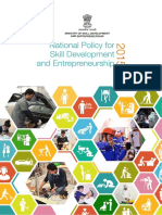National Policy on Skill Development and Entrepreneurship (NPSDE) 2015