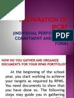 Preparation of IPCRF