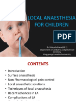 local anesthesia for children