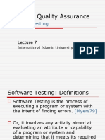 Software Quality Assurance Testing
