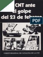 La CNT Ante El Golpe Del 23 de Febrero (Comité Regional de Cataluña de La CNT, Barcelona, Abril 1981) b