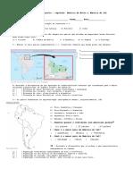Avaliação Bimestral de Geografia- 8º Ano - America Do Norte e Sul