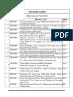 Matlab Project Titles