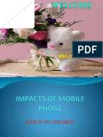 Impacts of Mobile Phone