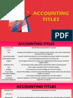 Accounting Titles