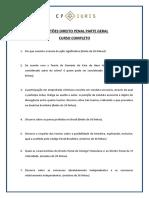 Questoes Curso de Direito Penal - Parte Geral - Completo