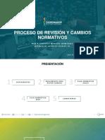 Proceso de Revisión y Cambios Normativos Chile 2019