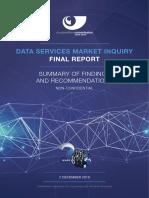 Data Market Inquiry Summary