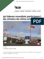 50 Líderes Mundiais Participam Hoje Da Cimeira Do Clima Em Madrid