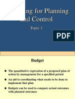 Budgeting (Topic 1-3)