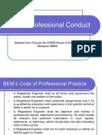 BEM CODE OF PROFESSIONAL CONDUCT