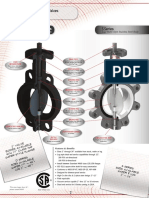MA Stewart L-D-4-S-E-LH Butterfly Valves Drawings and Specifications
