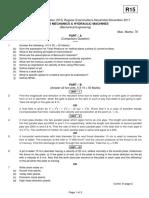 15A01510 Fluid Mechanics and Hydraulic Machines