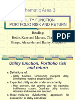 Lecture 3 - Utility Functions - Portfolio Risk and Return