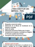 6 Pasos Para La Constitución de Una Empresa en Peru