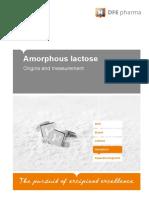 Amorphous Lactose Origins