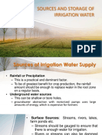 Sources and Storage of Irrigation Water