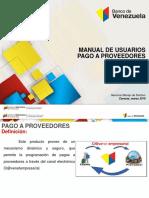 Manual de Usuarios Pago a Proveedores