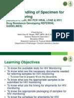 ARG Proper Handling of Specimen for HIV Monitoring Lecture