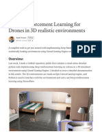 Deep Reinforcement Learning for Drones in 3D Realistic Environments