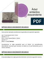 Árbol sintáctico descendente - recursivo y ll